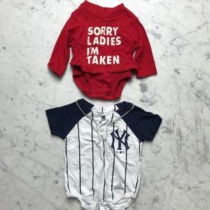 NY Yankees Sorry Ladies I'm Taken One-Piece Bundle